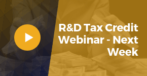 Register For The R&D Tax Credit Webinar Next Week