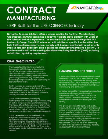 Life Science Contract Manufacturing Brochure