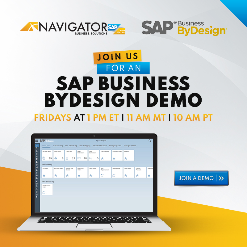 Get a SAP Business ByDesign Demo for your Life Science or Consumer Product company.