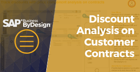 Discount Analysis on Customer Contracts in SAP Business ByDesign