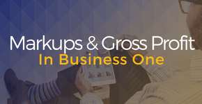 Markups & Gross Profit in Business One
