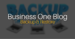 Business One Back Up and Restore