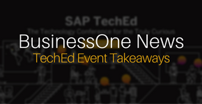 Business One TechEd Event Takeaways
