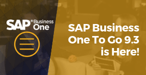 SAP Business One To Go Is Here