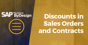 Discounts in Sales Orders and Contracts