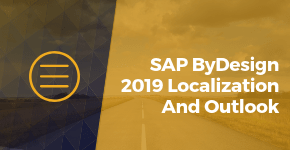 SAP ByDesign Localization and Outlook in 2019
