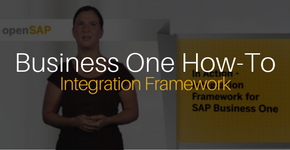 Business One How-To Integration Framework