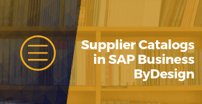 Supplier Catalogs in SAP Business ByDesign