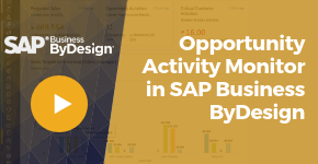 Opportunity Activity Monitor in SAP Business ByDesign