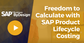 Freedom to Calculate with SAP Product Lifecycle Costing