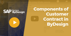 Components of Customer Contract in ByDesign