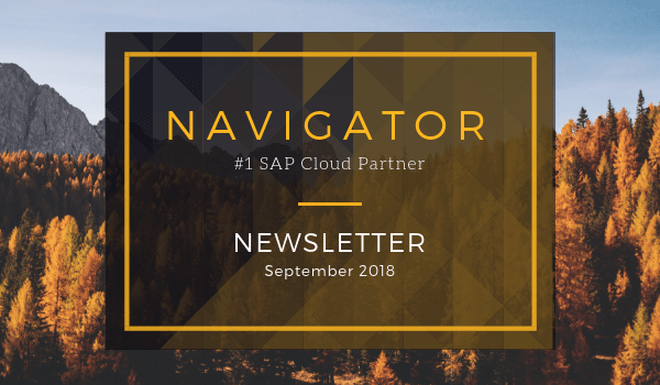 Navigator's September 2018 Newsletter