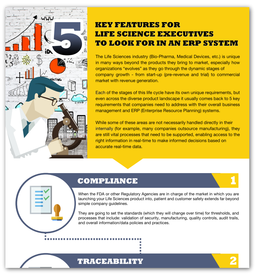 5 key features for life science executives to look for in an erp system
