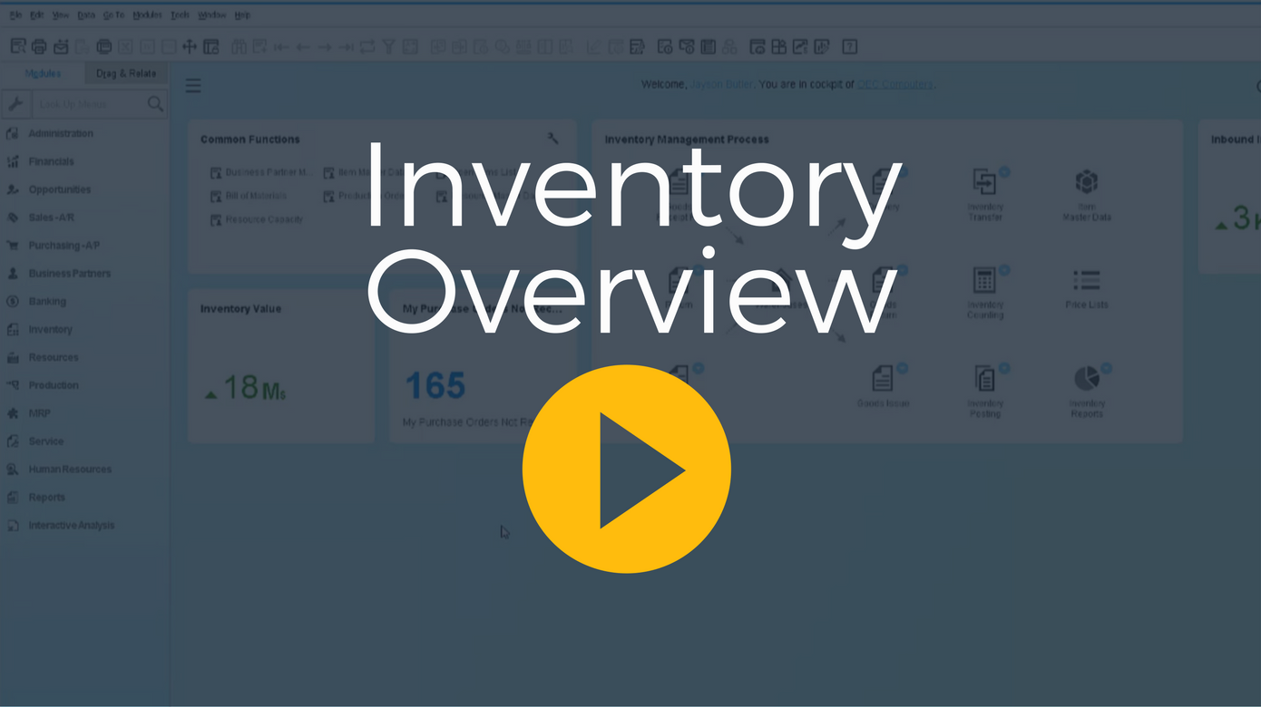 Business One Inventory Process