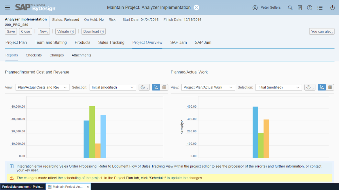 Maintain Project Analyzer Implementation